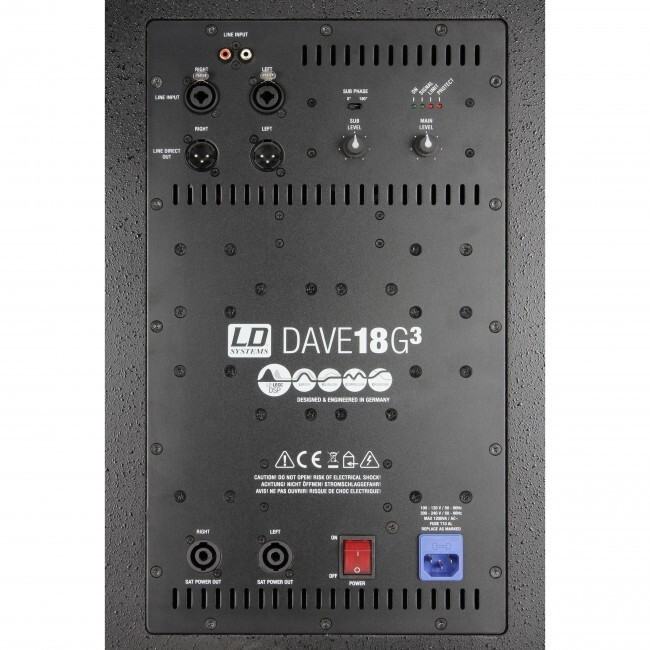 LD SYSTEMS LDDAVE18G3   Sistema PA activo subwoofer + satélites