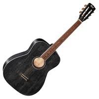 CORT AF590MF-BOP | Guitarra Acústica de 6 Cuerdas Black Open Pore