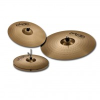 "PAISTE 201 Universal Set | Pack de Platillos Hi-Hat 14""+Crash 16""+Ride 20"""