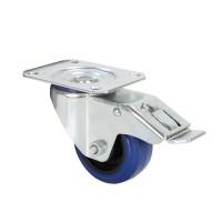 ADAM HALL 372091 | Rueda giratoria 80 mm azul con Freno
