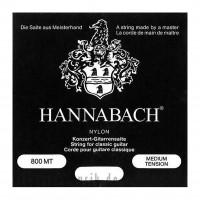 HANNABACH 800MT   Cuerdas para Guitarra Clásica y Flamenca de Nylon Medium Tension