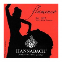 HANNABACH 827SHT   Cuerdas para Guitarra Clásica Flamenca Super Hight Tension Rojo