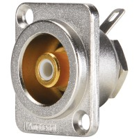Amphenol ACJD-WHT | Conector RCA Hembra Chasis Blanco