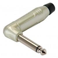 Amphenol ACPM-RN | Ficha Macho Plug 1/4 Mono de Metal a 90º