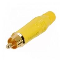 Amphenol ACPR-YEL | Conector RCA Macho para Cable Amarillo