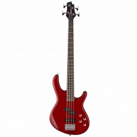 CORT ACTIONBASSPLUS-TR | Bajo Eléctrico Transparent Red con Funda