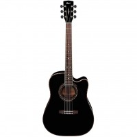 CORT AD880CE-BK | Guitarra Electroacústica Negra con Funda