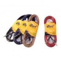 CORT CA525BK | Cable para Guitarra Eléctrica Translucido Negro 4.5 Mt