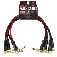BLASTKING CGTR-1PK | Paquete de 4 Cables de Conexión para Guitarra 30 Cm