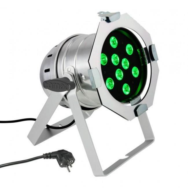 CAMEO CLP56TRI3WPS | Foco LED PAR 56 de Alto Rendimiento con 9 LEDs Tricolor Ultrabrillantes de 3V