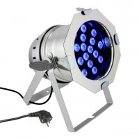 CAMEO CLP64TRI3WPS | Foco LED PAR 64 de Alto Rendimiento con 18 LEDs Tricolor Ultrabrillantes de 3V