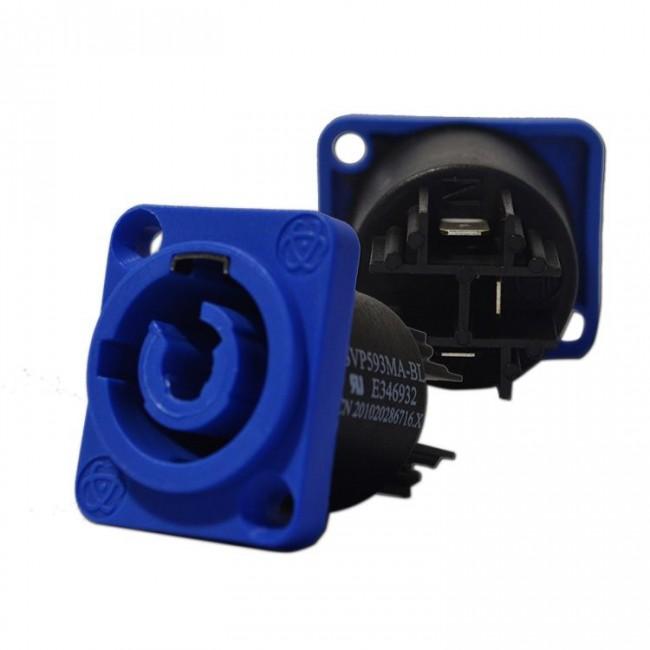 Lion Support CXP-PCCMA | Conector Powercon Chasis Macho Azul
