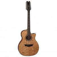 DEAN E-UQA12-GN | Guitarra Electroacústica Exótica Ultra Quilt Ash Gloss Natural