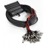 PROEL EBN2408 | Caja de Escenario de Audio de 32 canales 24 IN / 8 OUT de 25 m