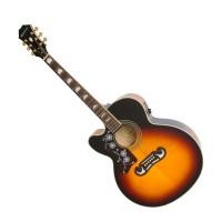 EPIPHONE EEJ4LVSGH3 | Guitarra Electroacústica EJ-200CE para Zurdos Vintage Sunburst