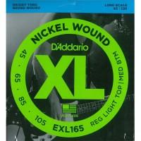 DADDARIO EXL165 | Cuerdas para Bajo Eléctrico de 4 Cuerdas Calibres 45-105