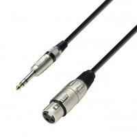 ADAM HALL K3BFV0600   Cable de Micro de XLR hembra a Jack 6,3 mm estéreo 6 m