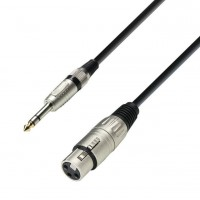 ADAM HALL K3BFV1000   Cable de Micro de XLR hembra a Jack 6,3 mm estéreo 10 m