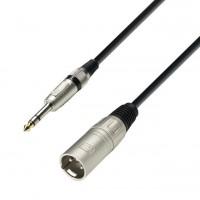 Adam Hall K3BMV0300   Cable para Micrófono XLR macho a Plug estéreo de 3 metros de largo