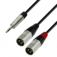 ADAM HALL K4YWMM0300 | Cable de Audio REAN de Minijack 3,5 mm estéreo a 2 XLR macho 3 m