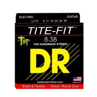 DR Strings LLT-8 | Cuerdas para Guitarra Eléctrica Tite Fit Electric Round Core