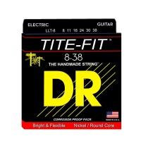 DR Strings LLT-8   Cuerdas para Guitarra Eléctrica Tite Fit Electric Round Core