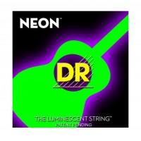 DR Strings NGA-12   Cuerdas para Guitarra Acustica Neon Verde Fluor