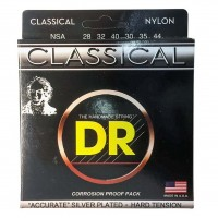 DR STRING NSA | Cuerdas para Guitarra Electrica Hard Silver Calibres 28-44