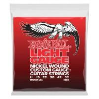 ERNIE BALL P02208 | Cuerdas para Guitarra Eléctrica Light Gauge Nickel Wound Calires 11-52