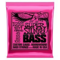 ERNIE BALL P02834 | Cuerdas de Bajo Eléctrico Super Slinky Nickel Wound Calibres 45-100