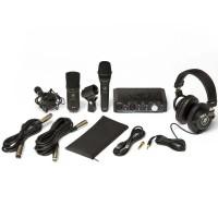 MACKIE PACK-HS-PRODUCER | Pack de Grabación con Interfaz USB, Mic Condensador, Mic Dinámico y Audífonos