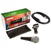 SHURE PGA48-XLR | Micrófono Vocal Dinámico Cardioide con Cable