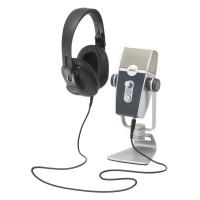 AKG PODCASTER | Kit de Producción de Audio Micrófono USB AKG Lyra y Auriculares AKG K371