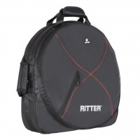 RITTER RDP2-HDC-BRD | Funda para Platillo de Batería Negra y Roja