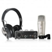 BEHRINGER U-PHORIA-STUDIO | Kit de Grabación Profesional Placa de Sonido + Micrófono + Auriculares