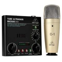 BEHRINGER VOICE-STUDIO | Pack de Grabación de Estudio con Micrófono y Preamplificador