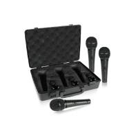 BEHRINGER XM1800S | Pack de 3 Set de Micrófonos Dinámicos Supercardioides para Instrumentos y Voces