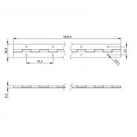 ADAM HALL 2605 | Bisagra de piano acero taladrado