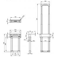 ADAM HALL 3473 | Asa telescópica escamoteable 3 Extensiones longitud 395 - 895 mm
