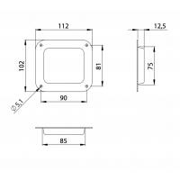 ADAM HALL 38080 | Tapa empotrable para apilar rueda en baúl o anvil