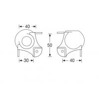 Adam Hall 4128 | Cantonera de Bola mediana 3 Patas con Paso Perfil 30 mm apilable hembra